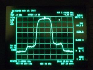 GB3NV output spectrum at 5Watts average power